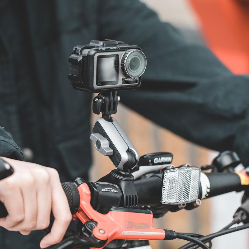GoPro大疆灵眸Osmo Action配件自行车摩托车山地车骑行固定支架