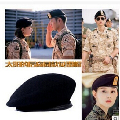 Original military hat song Zhongji death squads Beret men and womens trumpet small head Wai stage hat spring and summer Beret