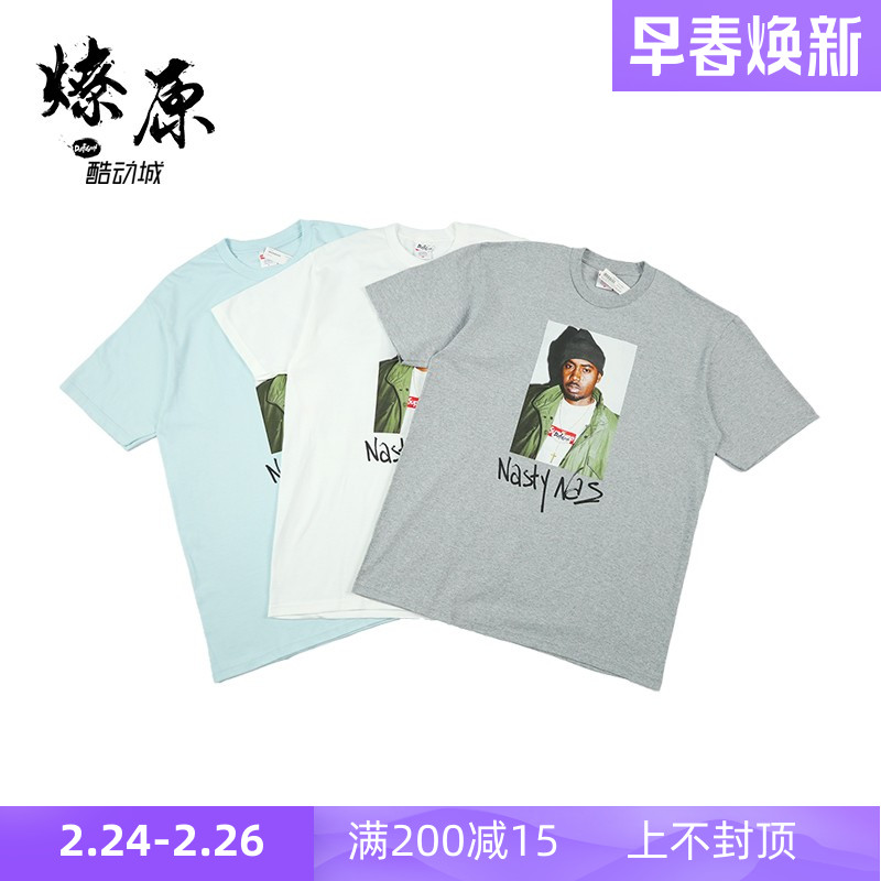 Supreme nasty nas photo tee 17AW / FW 人物肖像照片 短袖T恤