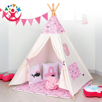 Yi caddie le childrens tent canvas game house indoor small tent princess Castle Baby game House Puzzle Toys