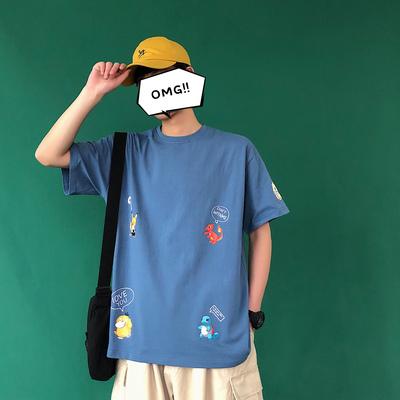 B410-DT64-P35-不低于49 宽松印花T恤