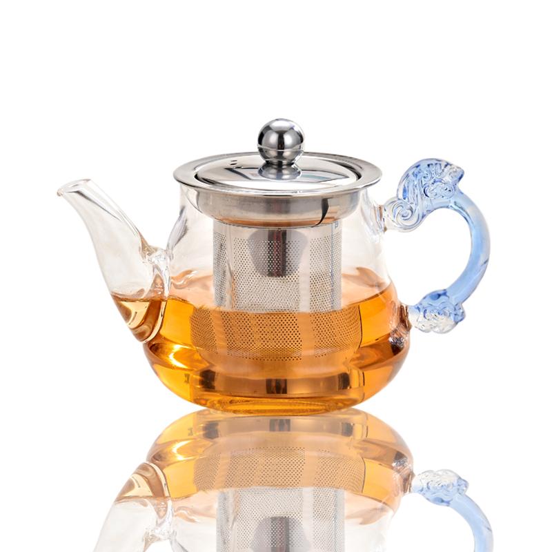 耐热玻璃飘逸杯不锈钢冲茶器过滤内胆泡茶壶家用茶具花茶壶玲珑