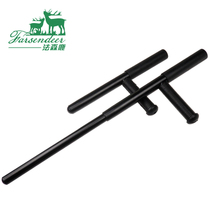 Defensive T-stick T-stick pure steel stick T turn martial arts turn T-stick Martial arts stick non-spring telescopic