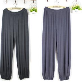 男士裤子莫代尔家居裤长裤加肥加大码居家裤睡裤莫代尔薄款瑜伽裤