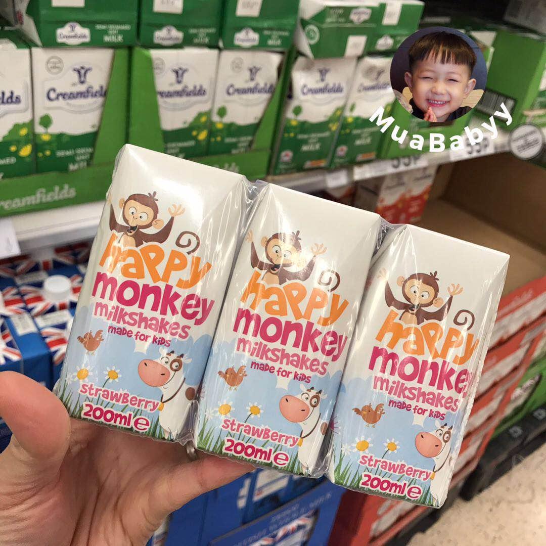 【现货】Happy Monkey雅培快乐小猴草莓巧克力奶昔 进口儿童饮料