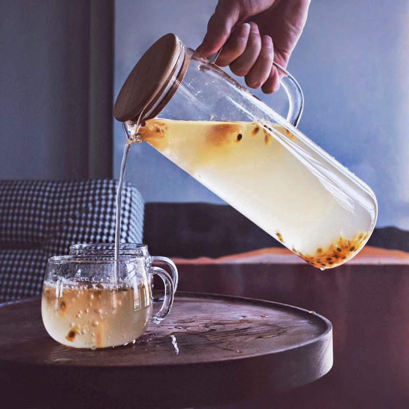 家用玻璃杯日式透明杯子创意双层水杯女宜家好看的杯壶