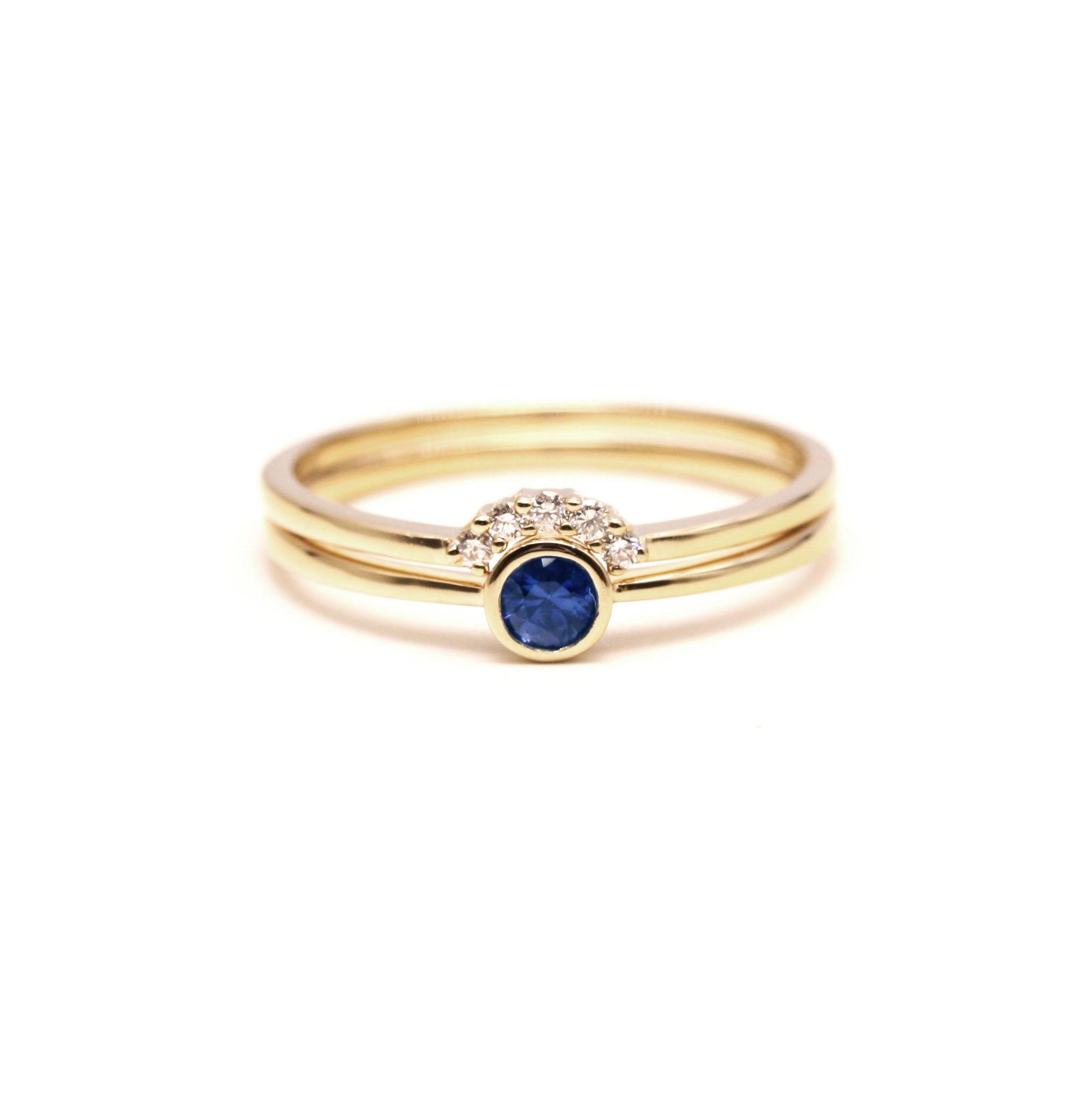 18K алмаз каменное кольцо подлинный юар алмаз бриллианты сапфир кольцо сломанный алмаз бриллианты кольцо