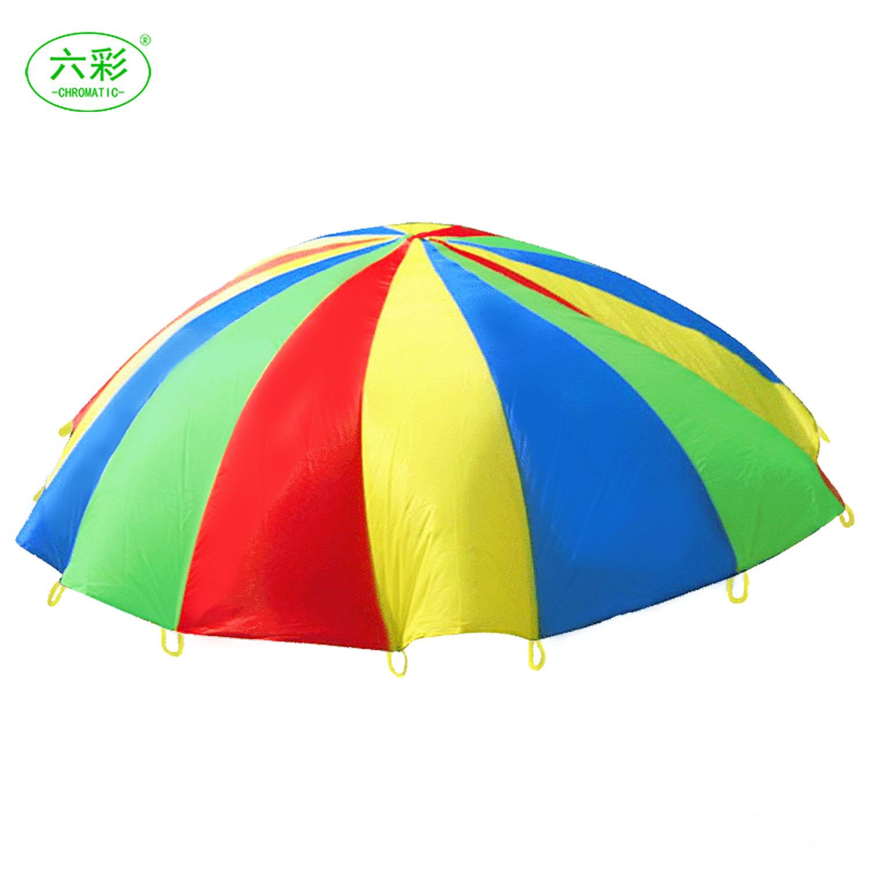 六彩彩虹傘早教幼兒園感統訓練兒童教具親子體育活動器材戶外用品