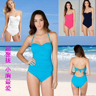 Europe s favorite secret gather small chest steel prop Bra belly cover was thin piece swimsuit hot spring beach