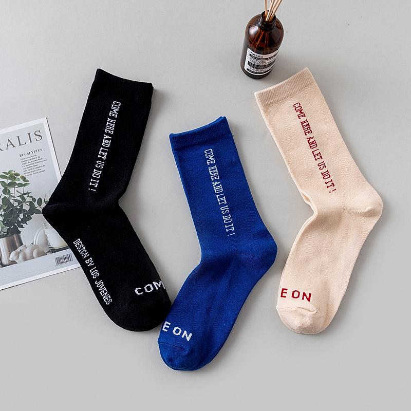 潮牌字母长袜子男女韩国个性欧美街头ins潮流篮球中筒袜夏季薄款