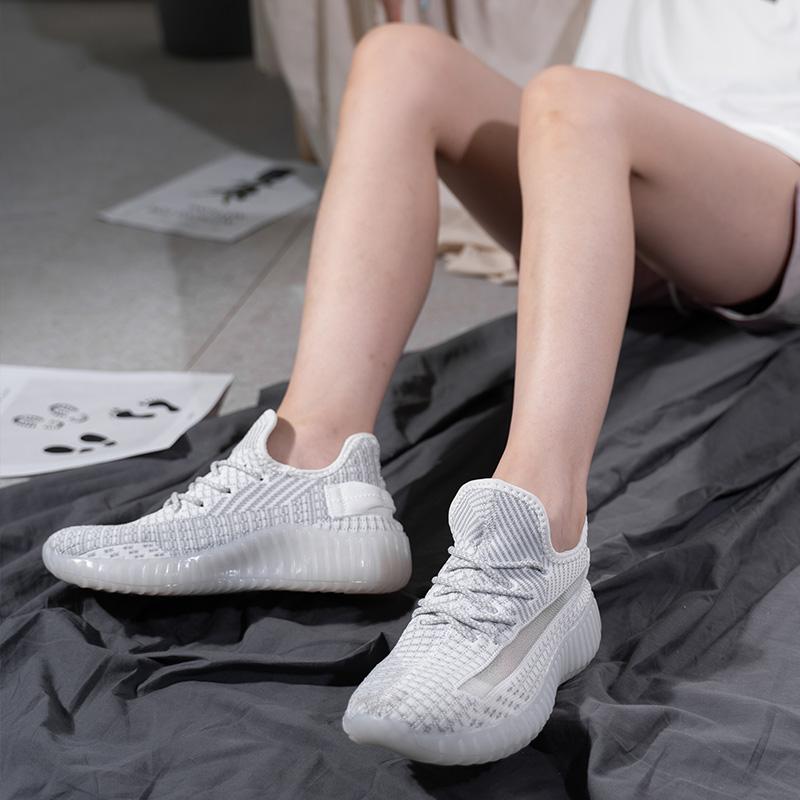 唐狮椰子鞋女2020夏季新款350v2网面透气运动鞋飞织学生休闲鞋子