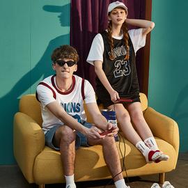 唐狮情侣装篮球背心2020夏季新款无袖t恤男青年运动服女潮流bf风