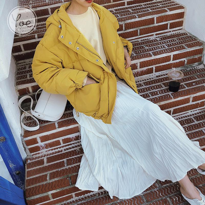 yoe羽绒服女新款宽松面包连帽保暖短款洋气韩版百搭小个子2020冬