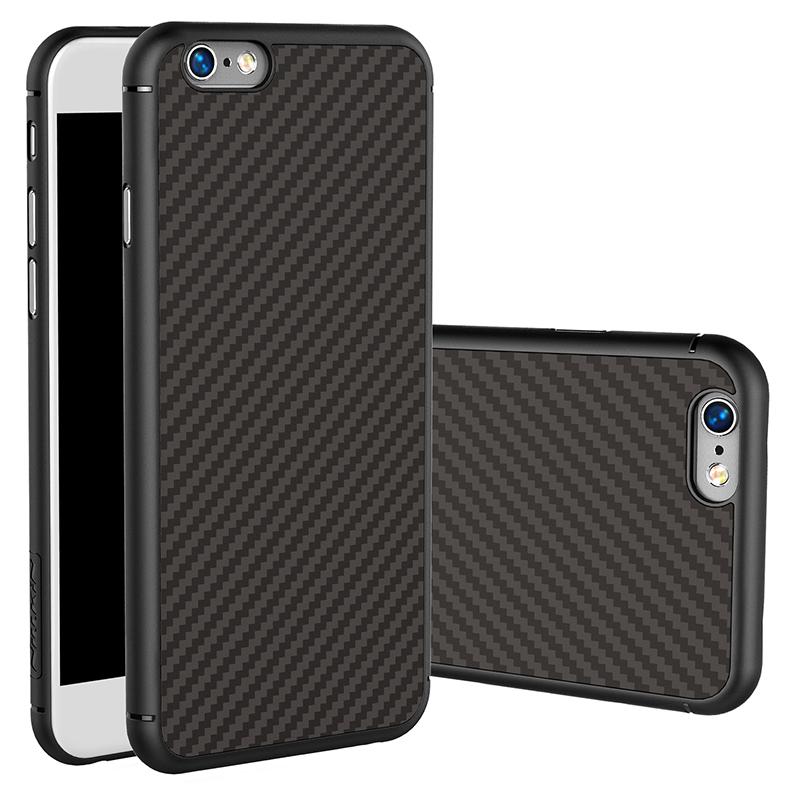 耐爾金蘋果6plus手機殼iphone6s plus手機套碳纖維殼內置鐵片潮男