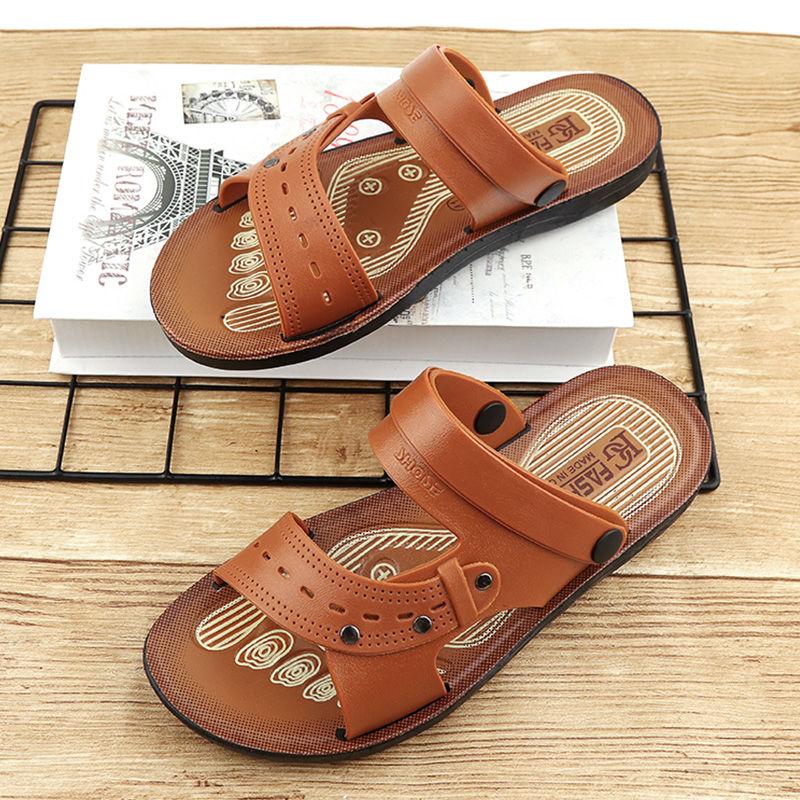 凉鞋男2020夏季新款露趾青年沙滩鞋两用沙滩凉拖鞋防滑男士凉鞋13