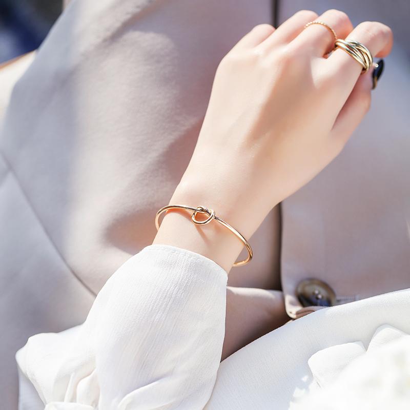 小众设计手镯女韩版简约个性ins风极简主义百搭网红饰品手链女(非品牌)