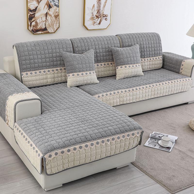 沙发垫四季通用北欧防滑加厚坐垫子简约现代皮沙发套罩巾盖布定做