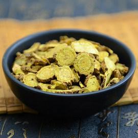 中药材纯天然野生黄芩黄芩片黄岑茶无硫500g批 发包邮免费打粉