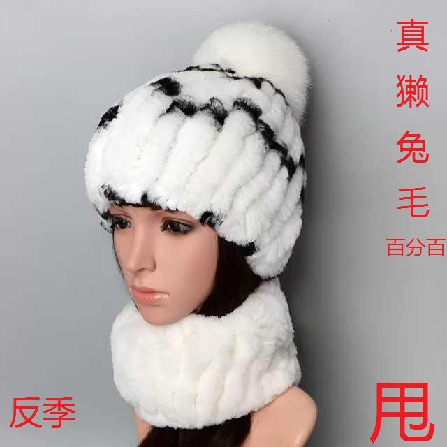 帽子の女性冬の風雪帽子雷鋒帽カワウソの毛を手作業で編み上げたヘルメット漁師の帽子セット