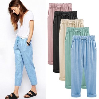 women pants plus size trouser colours elastic summer clothes, цена 486 руб