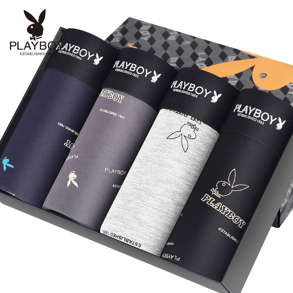 Playboy мужской трусы брюки мужчина в талия четыре углы шорты глава шелк льда воздухопроницаемый молодежь трусы для мужчин код