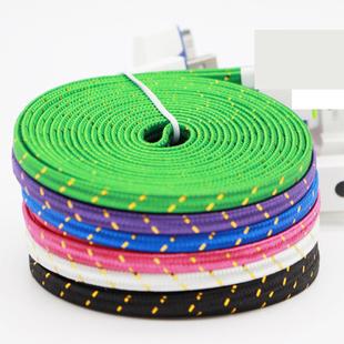 超长3米数据线 安卓手机通用2米充电高速线 面条编织usb线1米加长