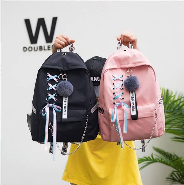 初中学生书包女双肩包大容量韩版时尚休闲校园学院风高中女生背包