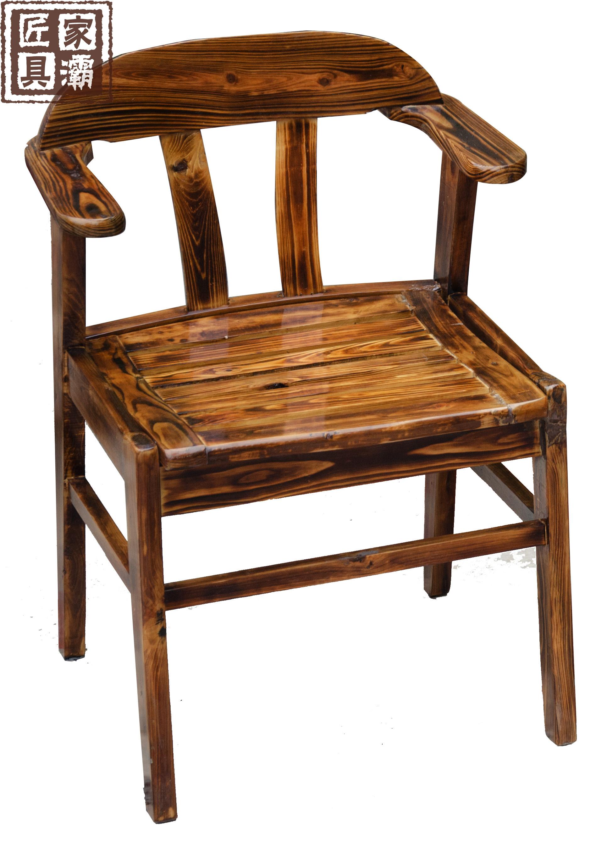 Дерево стул бар стул стул на открытом воздухе стул кофе стул уголь сжигать антикоррозийный сопротивление волна дерево табурет