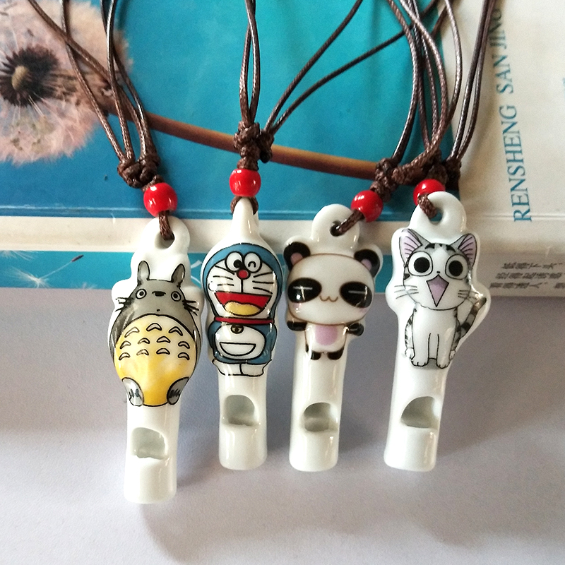 New panda simple Chinese cartoon character whistle Necklace Pendant sweater chain cute children gift