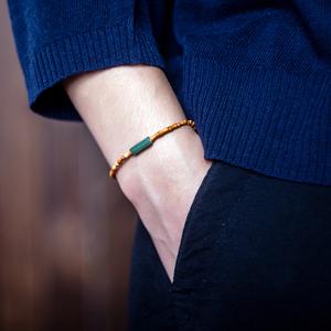 天然橄榄核竹节细小精致小巧手链