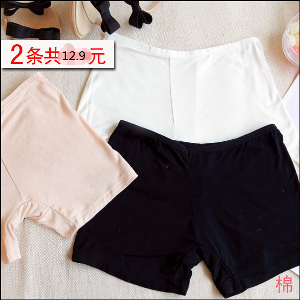 Pure cotton thin leggings, large size safety pants, modal three leggings, lace shorts, safety pants