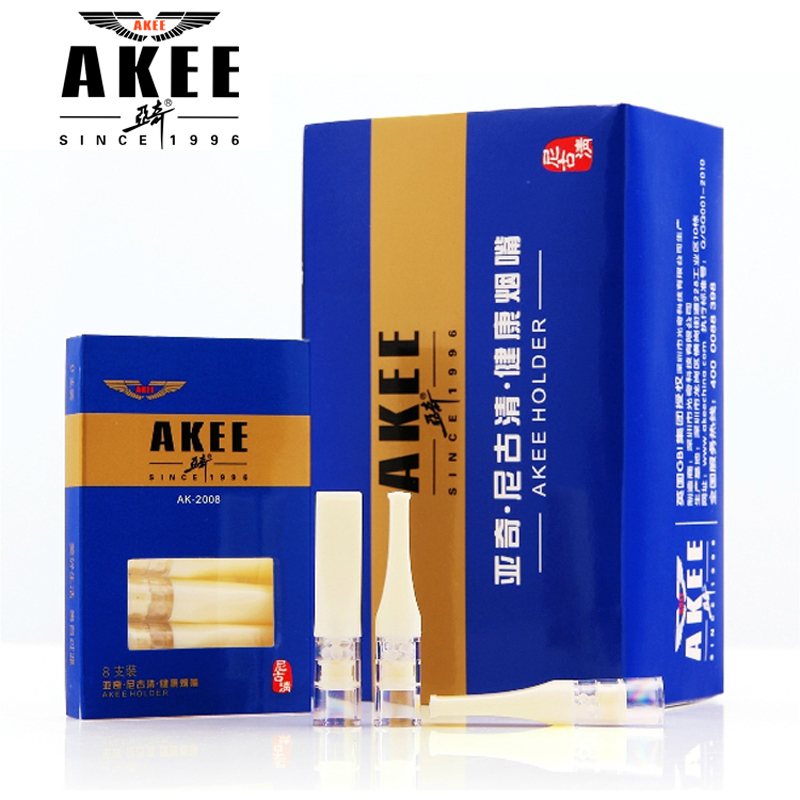 亞奇煙嘴 雙重過濾拋棄型一次性 AKEE2008 80支 國際象牙白