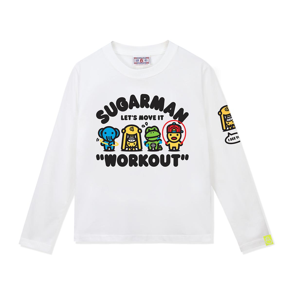 SUGARMAN2020小黃鴨  趣味動感印花圖案 長袖T裇 男女同款親子裝