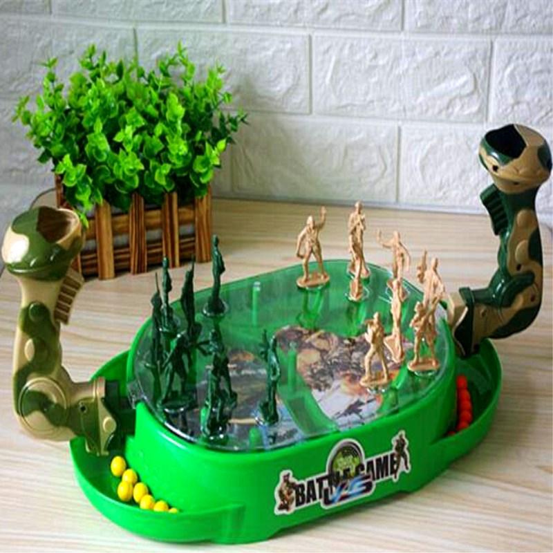 双人游戏儿童益智亲子互动对战弹珠小兵人桌游弹射玩具