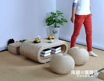 Wei Yue Pastoral tatami coffee table and room table table rattan floating window coffee table European tea ceremony table Kang table