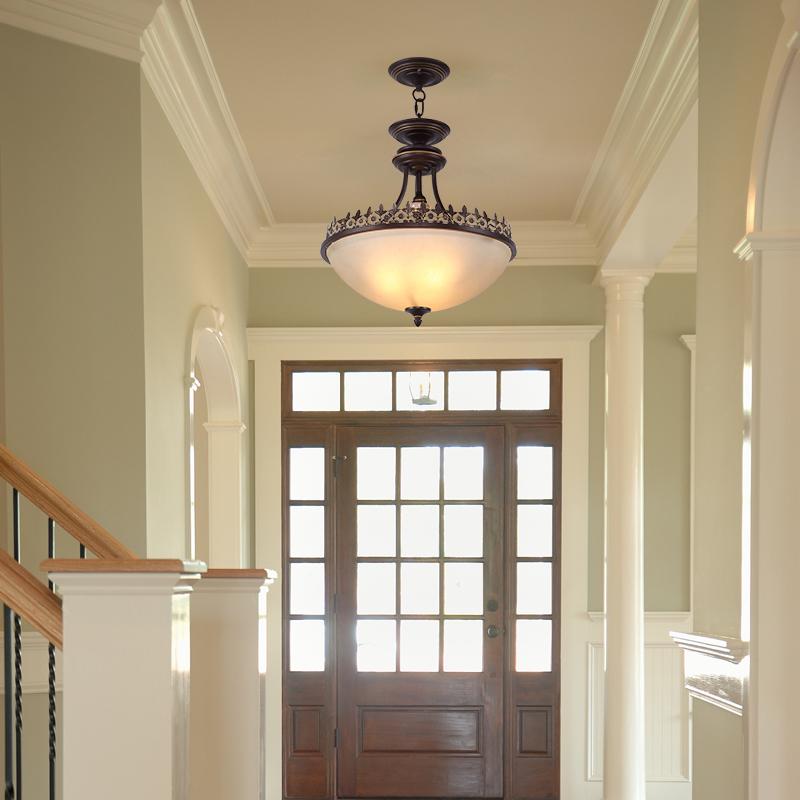 美式过道复古铁艺阳台灯单头门厅灯