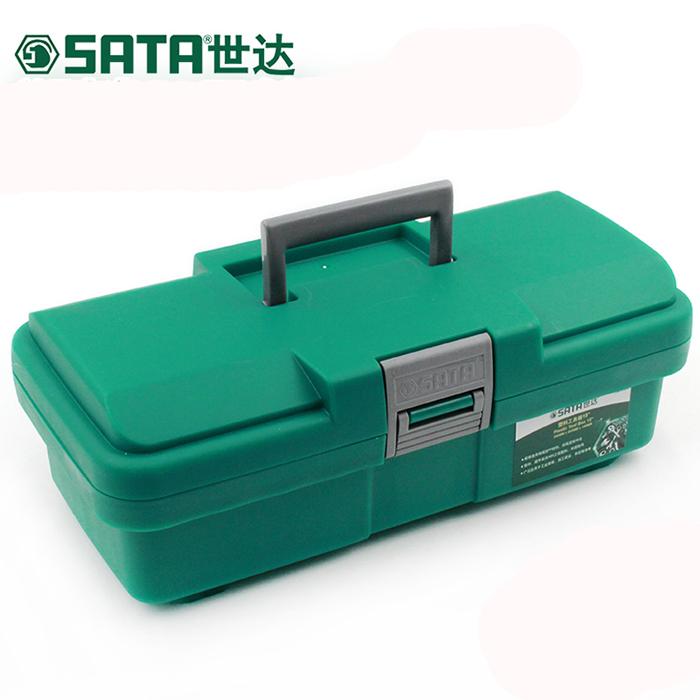 SATA世达工具塑料工具箱15寸五金零件箱外出便携手提箱 95161