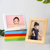 实木质相框摆台7寸56812七寸A4创意儿童画框挂墙照片相册定制