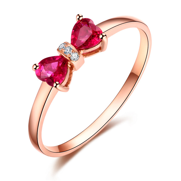 Jingmeng new color new color crystal set Ruby Ring Wedding Engagement proposal ring