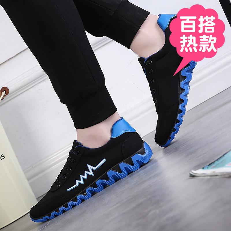 タオバオ仕入れ代行-ibuy99|运动鞋|夏季运动鞋男士韩版时尚男装休闲青少年学生男款潮板鞋低帮布鞋子