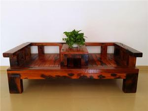 老船木罗汉床榻沙发椅子沉船木住宅家具罗汉床实木单人床现代中式
