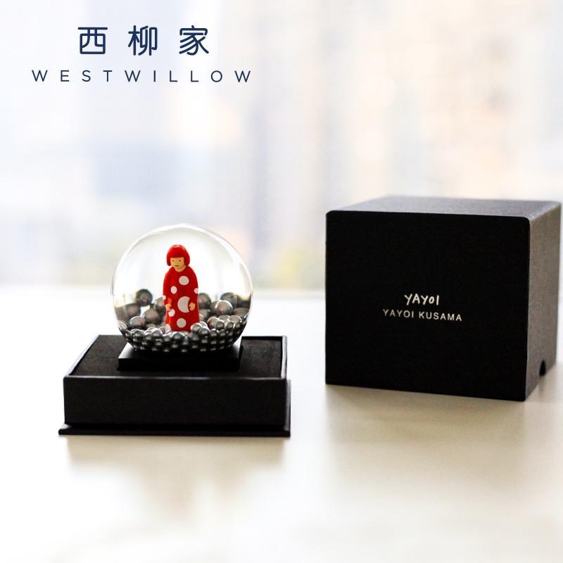 日本进口 艺术家草间弥生YAYOI KUSAMA办公桌装饰工艺品摆件礼品