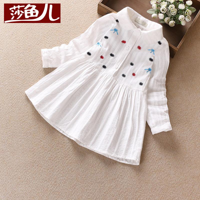 純棉白色女寶寶兒童打底衫