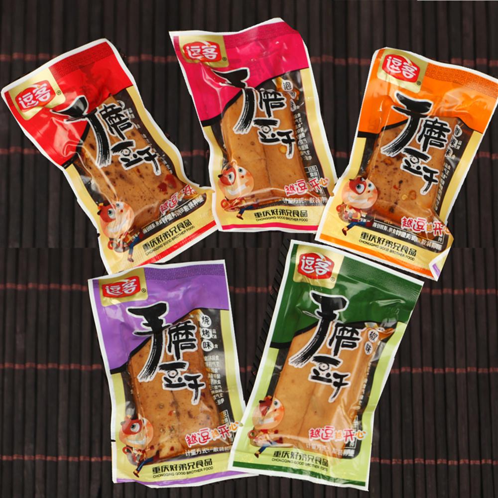 重庆特产逗客手磨豆干豆腐干500g散装称重办公室零食小吃小包装