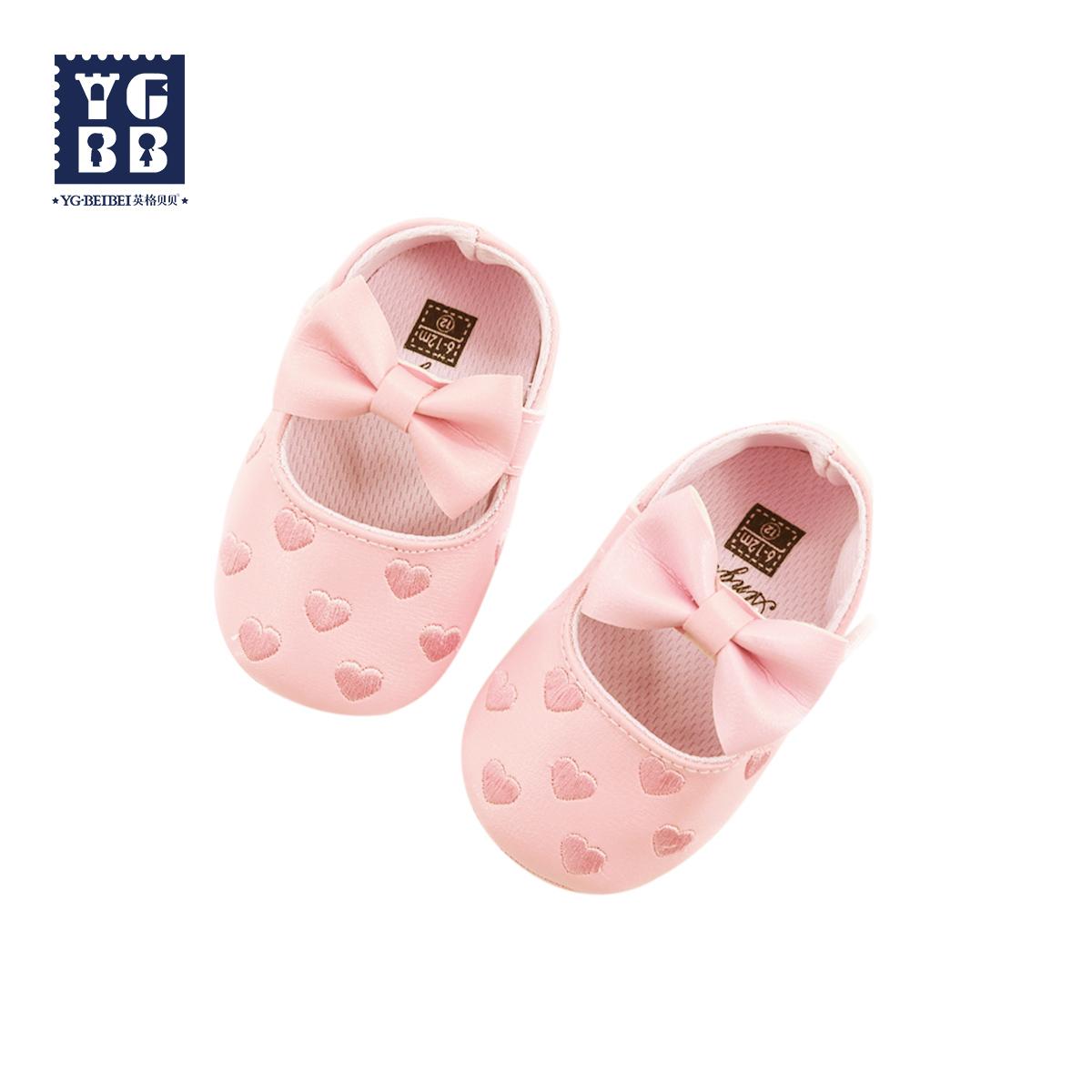 英格貝貝嬰幼兒鞋子學步鞋 女童可愛洋氣小皮鞋女寶寶春秋單鞋