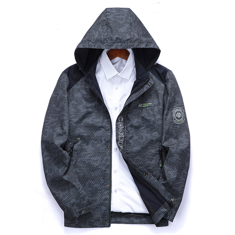 Spring and autumn 2020 new youth mens hooded casual jacket thin jacket mens jacket b88028