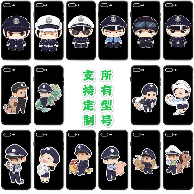 适用OPPOa11x手机壳a52/A1/a3/a7/a8/a92s胶警察交通警方小警卡通