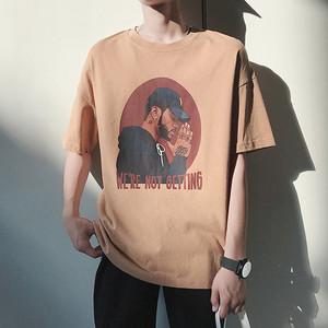 2019新款夏季男士潮牌短袖t恤港风半袖韩版潮流宽松男装夏装衣服