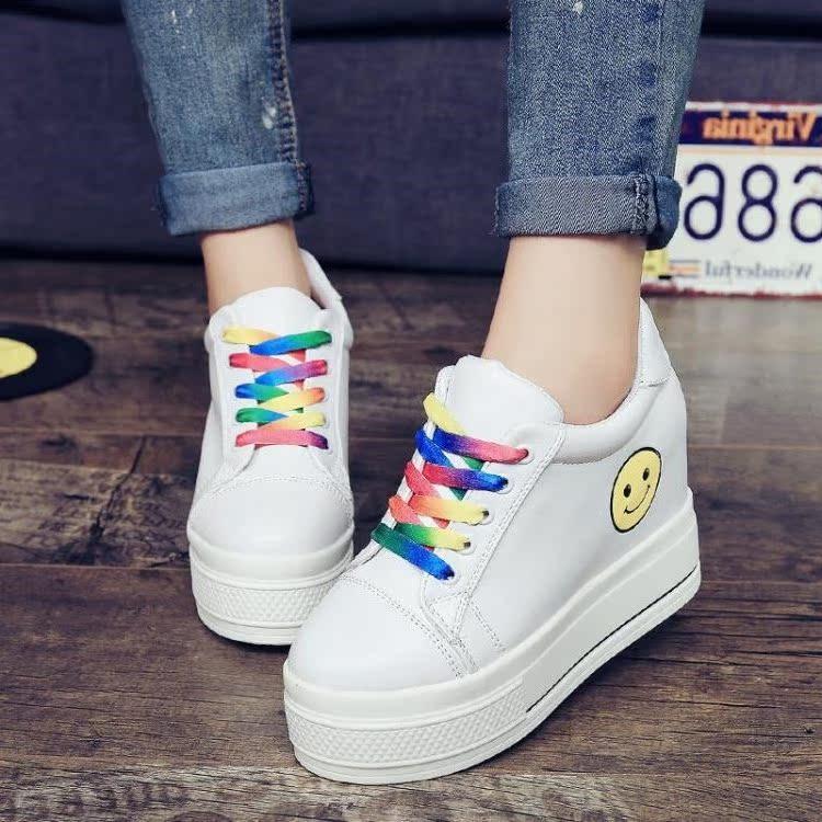 2017 Весна средней и средней школы учеников повышения детей Холст обувь девушки белые туфли, корейских женщин обувь
