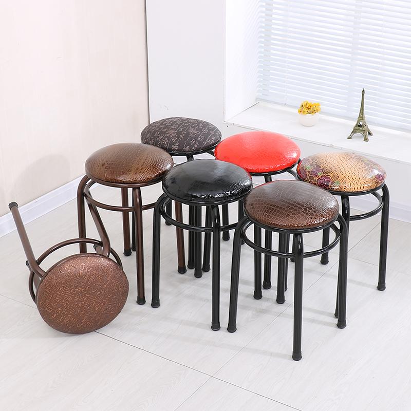 包邮特价餐桌凳子简易家用凳子快餐店凳子现代软面换鞋凳小圆凳子